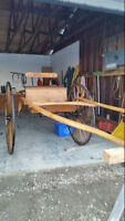 Single Horse all wood two wheel cart