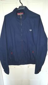 navy blue fred perry jacket