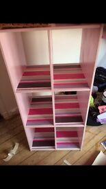 Pink toy storage unit