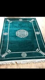 Large Green Rug 6ft x 9ft