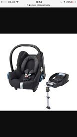 Maxi cozy carbriofix car seat and isofix base