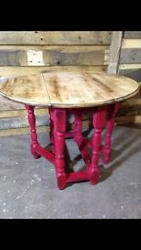 Small gate leg table painted in Annie Sloan paint