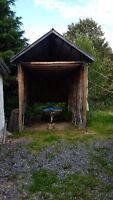 FREE - large outbuilding, garage and sunroom.