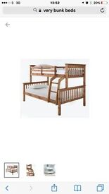 Trio bunk beds double and single
