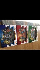 Pokemon Red and Blue collection sealed boxes