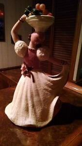 Vintage Hedi Schoop Planter/Figurine/Vase Woman with Basket Kitchener / Waterloo Kitchener Area image 2