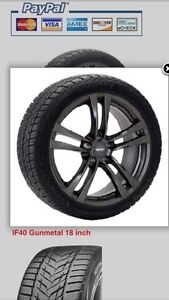 Winter package (tires on wheels) for 2016 Infiniti Q50 Sport.