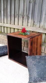 Solid Mango Wood Single Storage Cube Bookcase Shelf Side Table Coogee Eastern Suburbs Preview