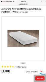 Airsprung waterproof single mattress - NEW