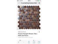 Pizzaz hexagon mosaic Tiles