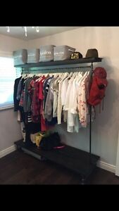 Custom build clothing rack