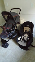 STROLLER(CITI BABY JOGGER) AND CAR SEAT