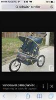 Schwinn DOUBLE running stroller