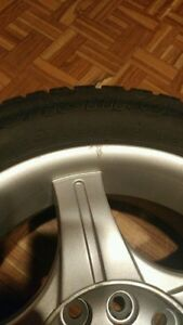 "Set of winter tires 14"" 4 bolt. Cambridge Kitchener Area image 2"
