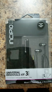 Brand New Sealed Incipio 3 pc Universal Essentials Kit