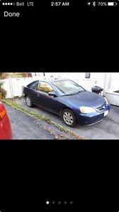 2003 Honda civic LX coupe( good for parts only)