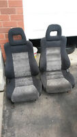 1 Set of Original 88-91 Honda CRX Si Bucket Seats