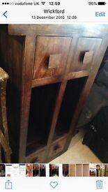 Dark mango wood TVs unit