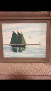 Tall ship painting (Port Stanley) London Ontario image 1