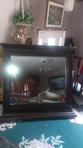 wood mirror  new  still in the box size 48 w x 44 London Ontario image 6