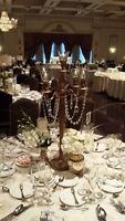 CENTERPIECE RENTALS!! GOLD CANDELABRA ONLY $25!! AMAZING PRICING