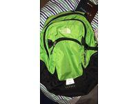 Green north face bag