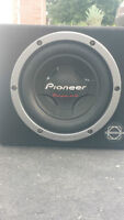 10 Inch Pioneer Subwoofer with box