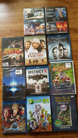 LOT SALE! Box of 11 DVD and Blu-Ray Movies and 40 Assorted CDs