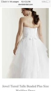 David's Bridal *Brand New* white wedding gown size 22 West Island Greater Montréal image 2