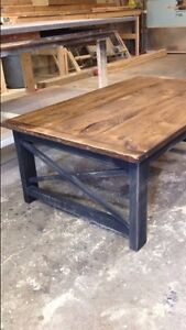 Coffee Table- distressed black legs