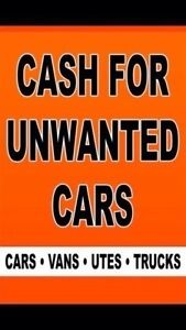 WE PAY CASH FOR ALL UNWANTED CARS VANS UTES AND TRUCKS Bankstown Bankstown Area Preview