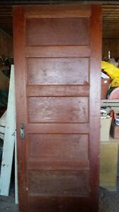 Antique 5 panel wood door