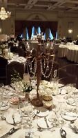 GOLD CANDELABRA ONLY $25!! AMAZING PRICES!! OTHER RENTAL AVAIL.