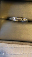 Ladies' 0.25 CT diamond band for sale - new with warranty!