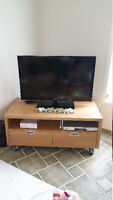 TV bench with drawers
