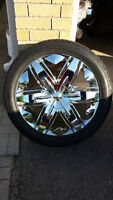 """REDUCED AGAIN MUST SELL ~ 22"""" Dolche Rims & Rubber"""