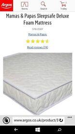 Mamas and Papas sleep safe deluxe foam mattress