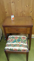 1954 Singer Sewing Machine, Cabinet and Stool