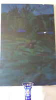 Signed Gerry Collins - Large Oil on Canvas - Scenic