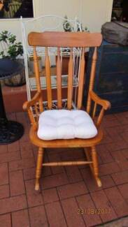 Vintage Rocking Chair and Cushion,   Very Sturdy