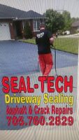 Asphalt Driveway Sealing.. Seal-Tech..