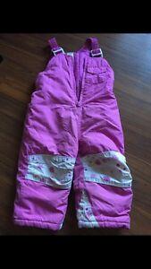 Toddler girls snow pants 18 months