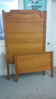 c1890 ANTIQUE TWIN BED FRAME IN EXCELLENT SHAPE - DELIVERY AVAIL