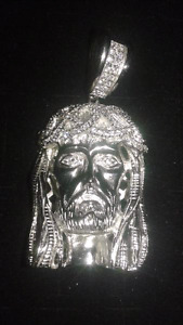 .925 silver jesus piece REGULAR $375