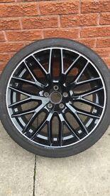 Genuine Audi black edition wheel