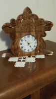 Clock hand craved for mantel/ table