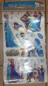2 NEW FROZEN wall sticker sheets ($ 3 /sheet)
