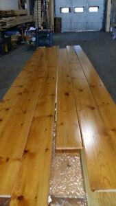 plancher de pin rouge toute largeur x 3/4 d'epaisseur bon prix