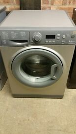 Hotpoint Aquarius 8kg silver washing machine, good condition, A+++ energy rating. Family size.