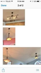 Various lights and ceiling fans.  All in perfect working order